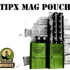 Download free STL file TIPX mag pouch molle tippmann paintball • 3D printer object, UntangleART