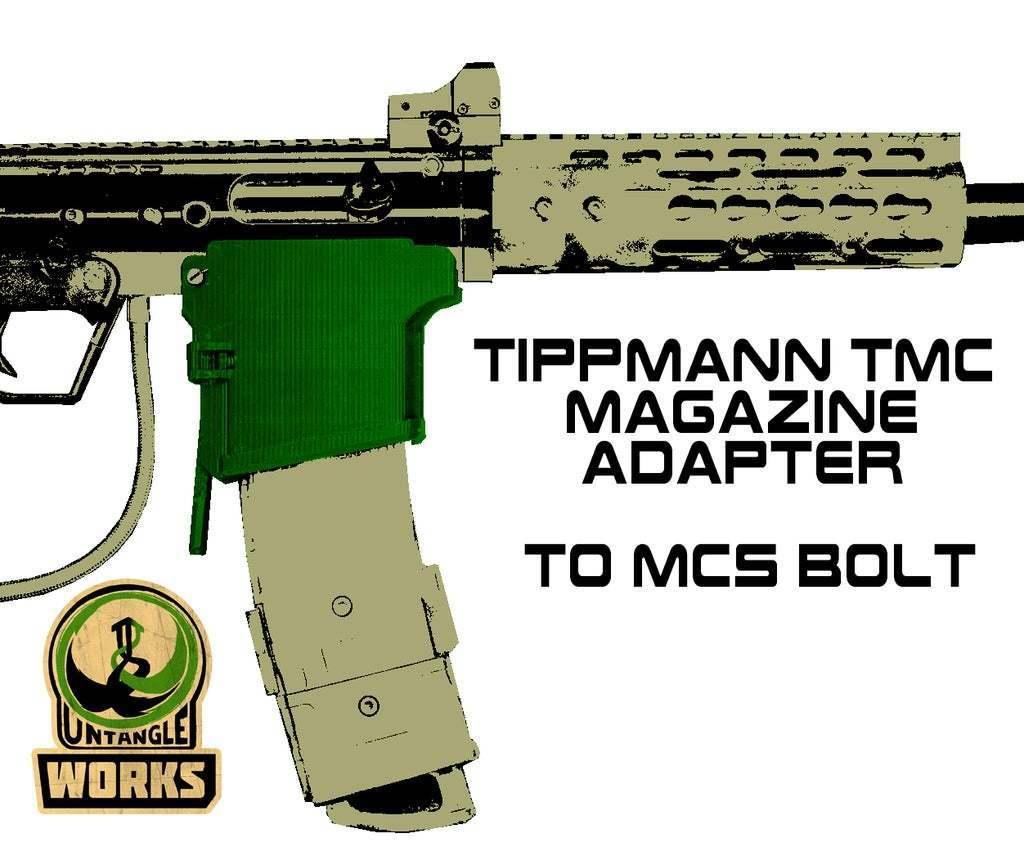 BOLT_TMC.jpg Download free STL file Tippmann TMC to MCS BOLT or Blizzard Adapter • Template to 3D print, UntangleART