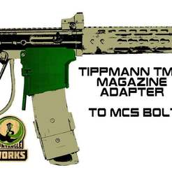 BOLT_TMC.jpg Download free STL file Tippmann TMC to MCS BOLT or Blizzard Adapter • Template to 3D print, UntangleART