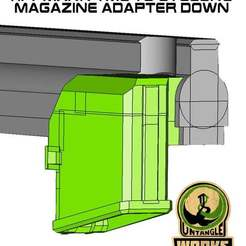 Download free 3D print files Tippmann TMC to cyclone Magazine Down  Adapter, UntangleART