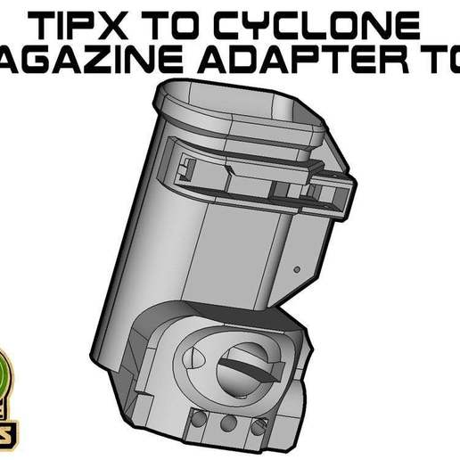 TIPX_CY_TOP.jpg Download free STL file TIPX to cyclone Magazine Adapter TOP • 3D printer model, UntangleART