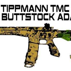Download free STL file Tippmann TMC to X7 buttstock adapter • Design to 3D print, UntangleART