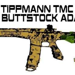 Download free 3D printer templates Tippmann TMC to X7 buttstock adapter, UntangleART