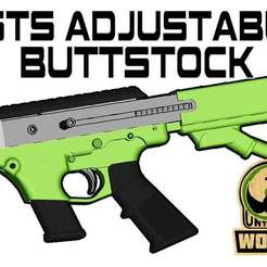 HSTS-A-STOCK-MOD.jpg Download free STL file HSTS UNW Adjustable Buttstock • Template to 3D print, UntangleART