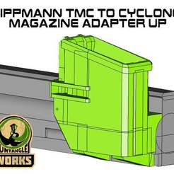 Download free 3D printer templates Tippmann TMC to cyclone Magazine UP Adapter, UntangleART