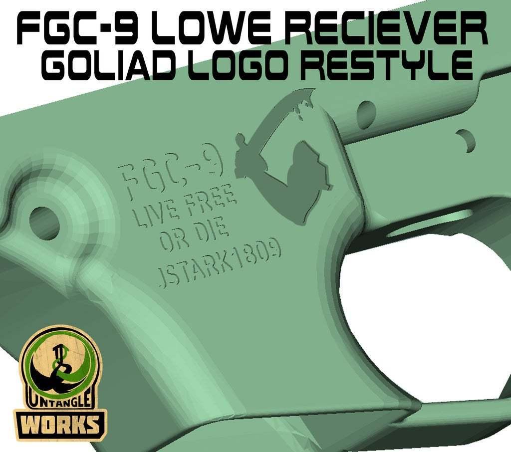 FGC9_LR_LOGO_Restyle.jpg Download free 3MF file FGC-9 Lower receiver Goliad logo restyle • 3D print design, UntangleART