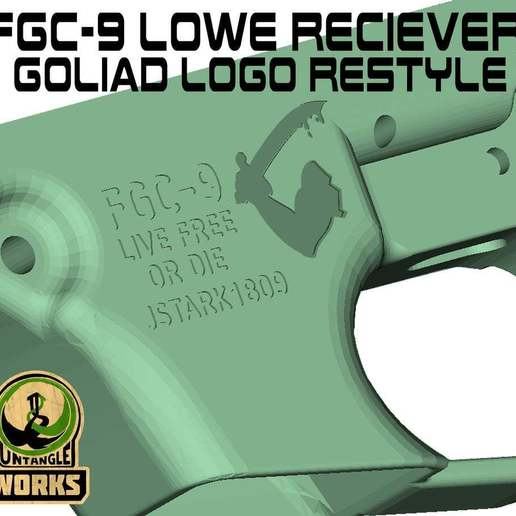 Download free 3MF file FGC-9 Lower receiver Goliad logo restyle • 3D print design, UntangleART