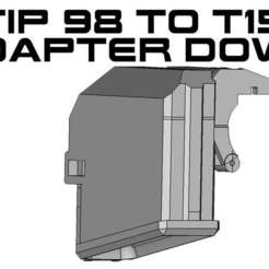 TIPWELL_b_2.jpg Download free STL file T15 to Tippmann 98 Magazine adapter Down • Template to 3D print, UntangleART