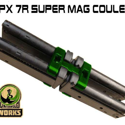 TIPX_super_MAg_7_coupler_.jpg Download free STL file Tipx 7round super mag coupler • 3D printer design, UntangleART