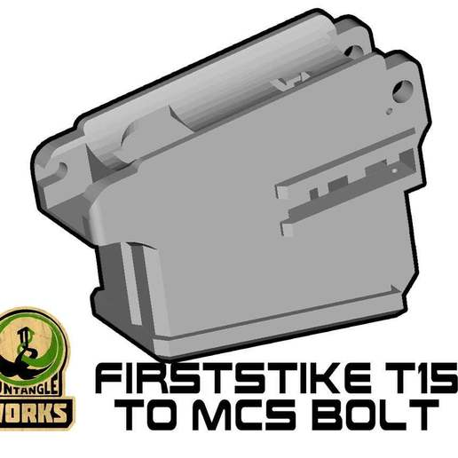 T15_to_MCS_BOLT.jpg Download free STL file Firststrike T15 to MCS BOLT or Blizzard Adapter • 3D printer template, UntangleART