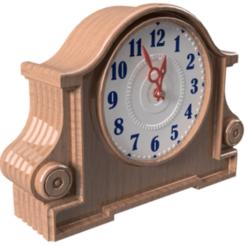 Design J - pic 1b.png Download STL file Contemporary Desk Clock - J  • 3D print design, 3dprinting_cafe