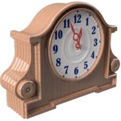 Download 3D printer designs Contemporary Desk Clock - J , 3dprinting_cafe