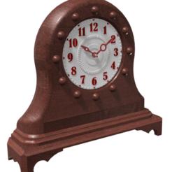Download STL Desk Clock - Design O, 3dprinting_cafe