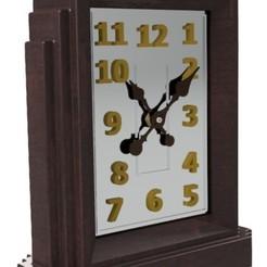 Design F1 - Aug 2019 Pic 1.jpg Télécharger fichier STL Horloge de bureau moderne - F1 • Plan à imprimer en 3D, 3dprinting_cafe