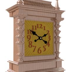 Download 3D printer model Mantel Clock - D2, 3dprinting_cafe