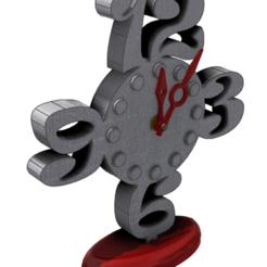 Design C - Pic 1.png Télécharger fichier STL Horloge de chevet - C • Plan pour impression 3D, 3dprinting_cafe