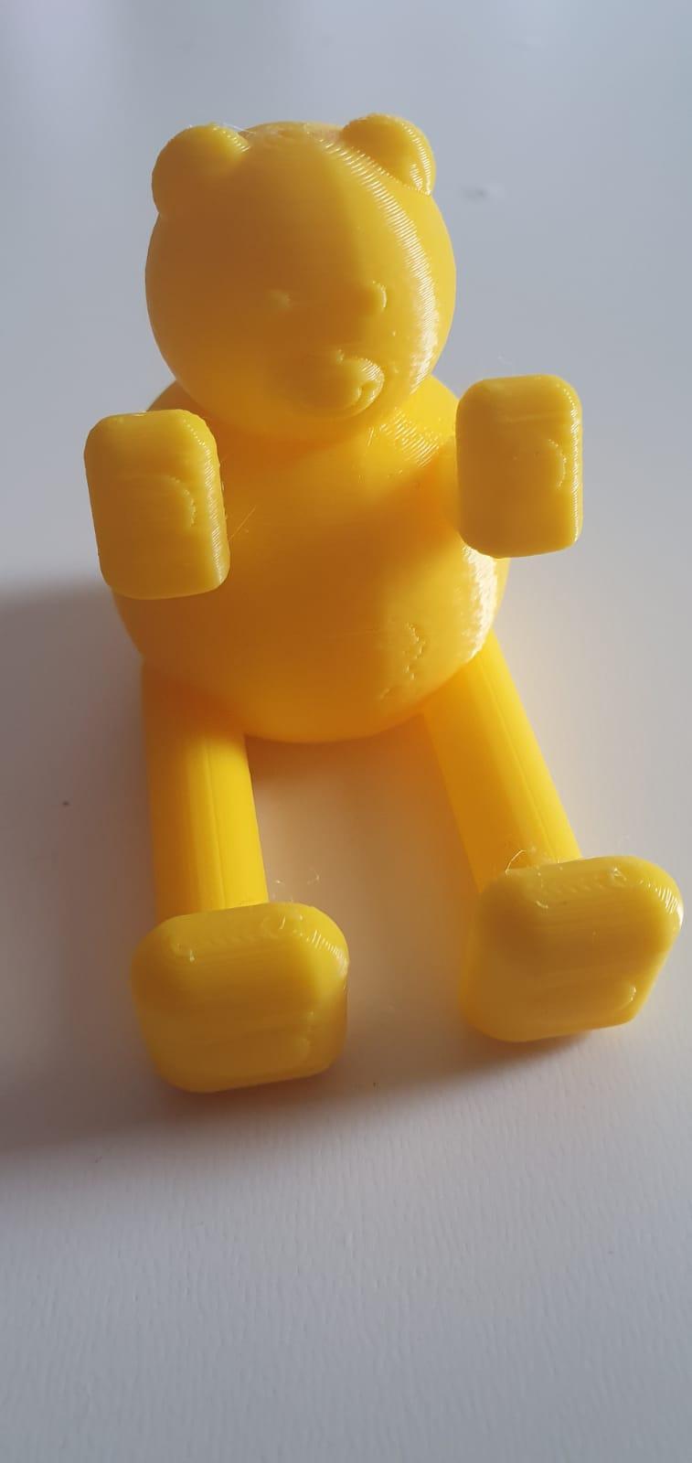 oso soporte  4.jpeg Télécharger fichier STL gratuit Petit gros ours (support pour smartphone) • Objet à imprimer en 3D, MaJoReRo