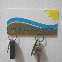 colgador llave Ftv 1.jpeg Télécharger fichier STL Titulaire de la clé Fuerteventura • Design pour impression 3D, MaJoReRo
