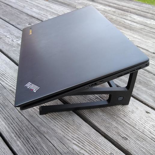 Download free STL file Laptop Stand with Keybord Holder • 3D printable design, medmakes