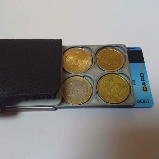 Download free 3D printer model Euro coin holder for wallet, medmakes