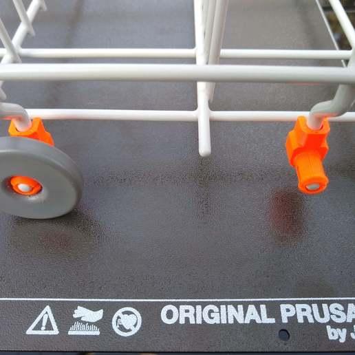 Download free 3D printer designs Dishwasher wheel clips (Ikea), medmakes