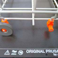 Download free 3D printer designs Dishwasher wheel clips (Ikea), medmakes