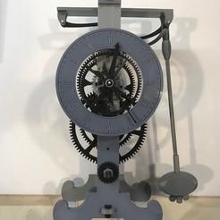 frontFaceIII.jpg Descargar archivo STL gratis Galileo Escapement clock spring driven and hands • Plan imprimible en 3D, JacquesFavre