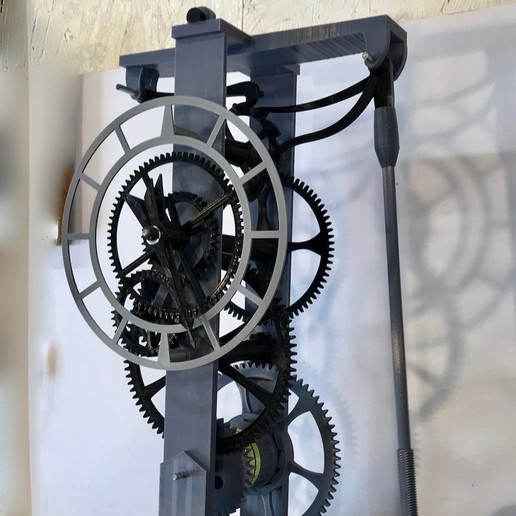 IMG_2214.jpg Download free STL file 3D Printed Galileo Escapement Clock with Hands • 3D printing object, JacquesFavre
