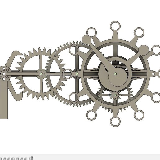 frontFusion.jpg Download free STL file The First Clock • 3D print design, JacquesFavre