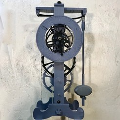 IMG_2230.jpg Download free STL file 3D Printed Galileo Escapement Clock with Hands • 3D printing object, JacquesFavre