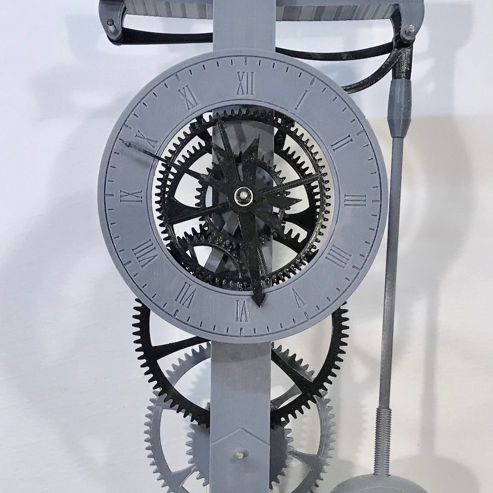 IMG_2222.jpg Download free STL file 3D Printed Galileo Escapement Clock with Hands • 3D printing object, JacquesFavre