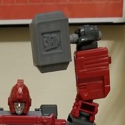 closeup.jpg Download free STL file Transformers Siege Cybertronian mjolner • 3D printable object, Firetox