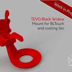 Descargar modelos 3D gratis TEVO Black Widow BLTouch y soporte de ventilador para la extrusora Titan, Freimor