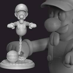 1.jpg Download STL file Luigi Ghost • 3D print object, RandomDesign