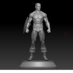 1.jpg Télécharger fichier STL Captain America dans son uniforme classique • Design à imprimer en 3D, RandomDesign