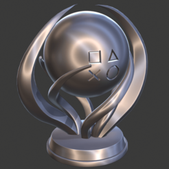perspective.png Download STL file PlayStation Platinum Trophy (updated) • 3D printing template, Semper