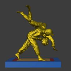 judoka.png Télécharger fichier STL Diorama Judoka • Plan à imprimer en 3D, Semper