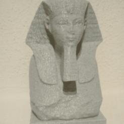 Télécharger fichier STL gratuit Tête et épaules d'un sphinx de Hatchepsout • Modèle imprimable en 3D, Semper
