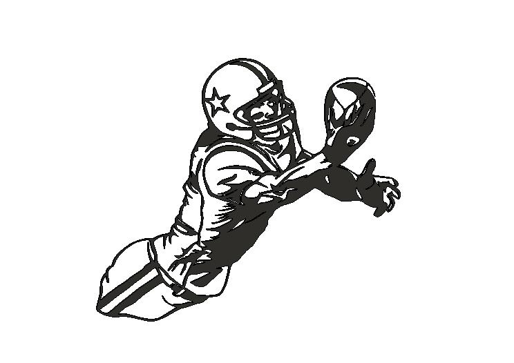 AFPlayer1.png Descargar archivo STL American football reciver • Modelo para imprimir en 3D, miguelonmex