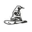 hogwartsHatToCults.png Descargar archivo STL Sorting Hat Harry Potter Wall • Diseño para imprimir en 3D, miguelonmex