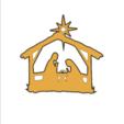 nacimientoToTh.png Descargar archivo STL gratis El nacimiento de Jesús. Montado en la pared • Objeto para imprimir en 3D, miguelonmex