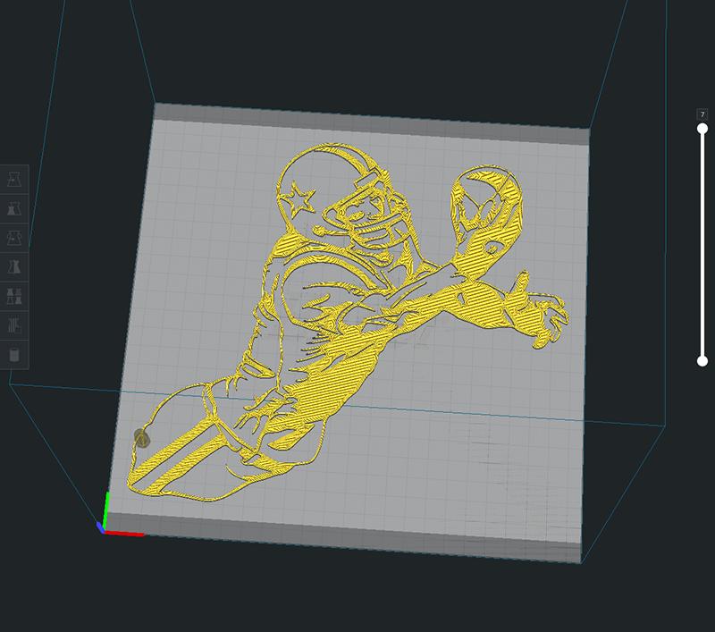 AFPlayer2.png Descargar archivo STL American football reciver • Modelo para imprimir en 3D, miguelonmex