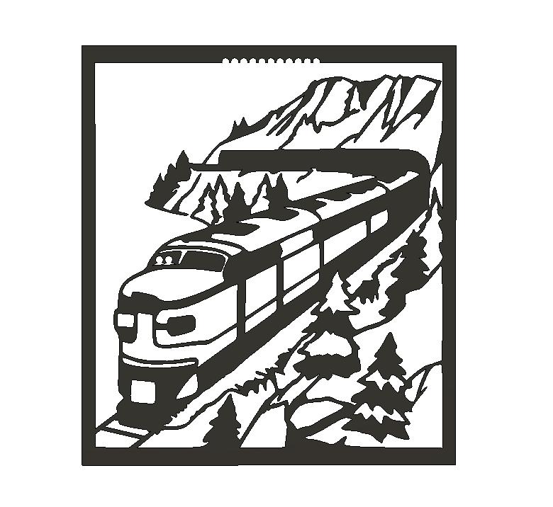 TrainToT.png Descargar archivo STL Train view • Plan de la impresora 3D, miguelonmex