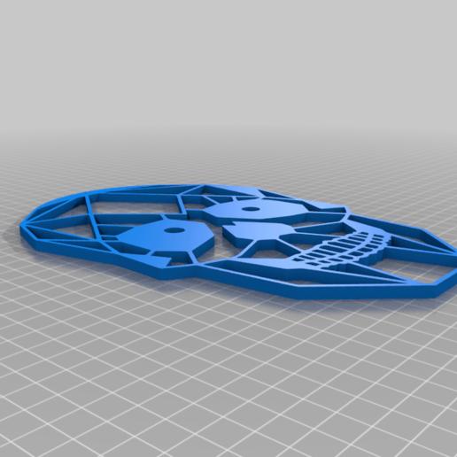 meSkull.png Download free STL file Skull 2D (self option) • Design to 3D print, miguelonmex