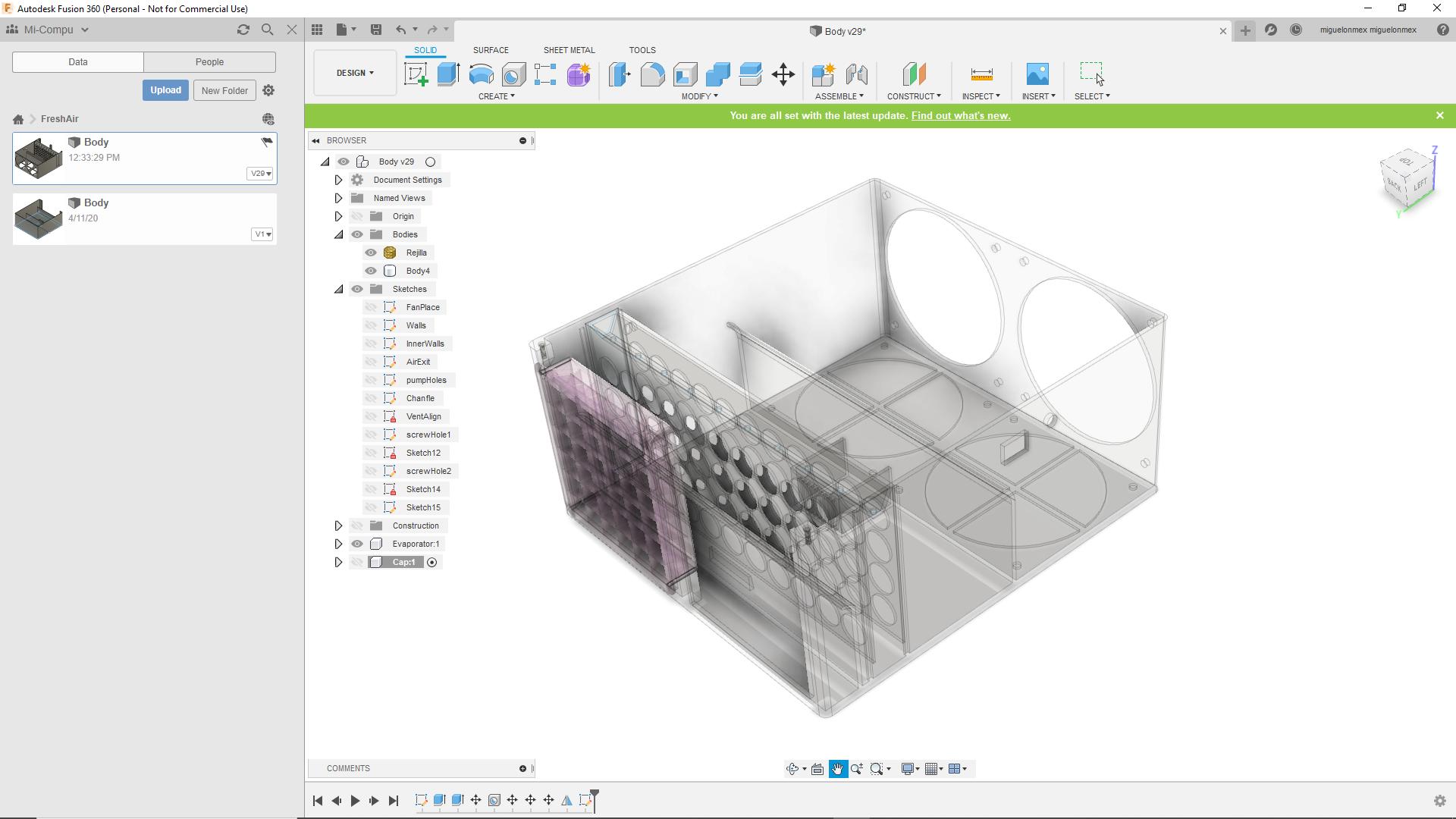 xr1.png Descargar archivo STL Aire Acondicionado (lavado) • Diseño para impresión en 3D, miguelonmex