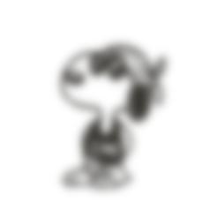 snoppyCool.stl Descargar archivo STL Snoopy Cool!! • Diseño para imprimir en 3D, miguelonmex