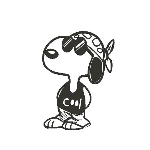 SnoopyCool.png Descargar archivo STL Snoopy Cool!! • Diseño para imprimir en 3D, miguelonmex