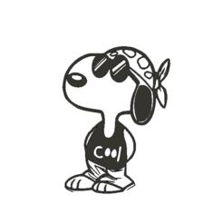 SnoopyCool.png Télécharger fichier STL Snoopy Cool !! • Design à imprimer en 3D, miguelonmex