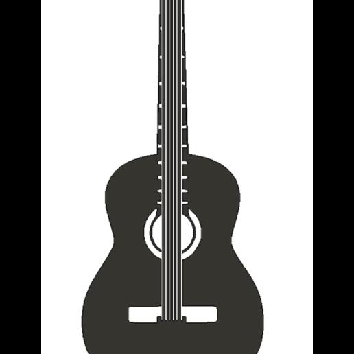 guitarraAcU.png Descargar archivo STL gratis Pared de guitarra acústica • Plan de la impresora 3D, miguelonmex