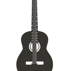 guitarraAcU.png Download free STL file Acustic Guitar Wall • 3D print model, miguelonmex